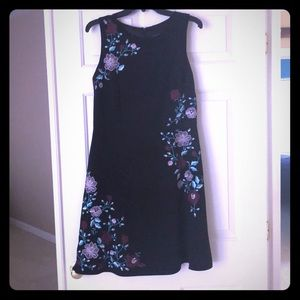 Laundry dress. Black with floral pattern on front